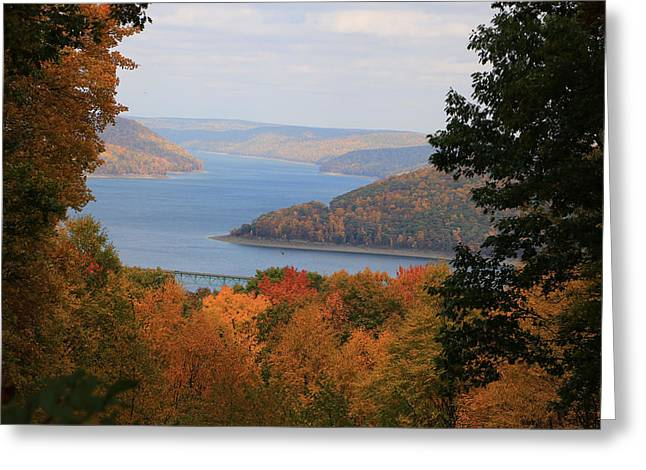 Overlooking Kinzua Lake Greeting Card