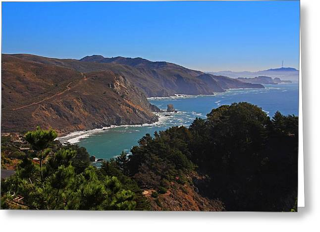 Overlooking Marin Headlands Greeting Card