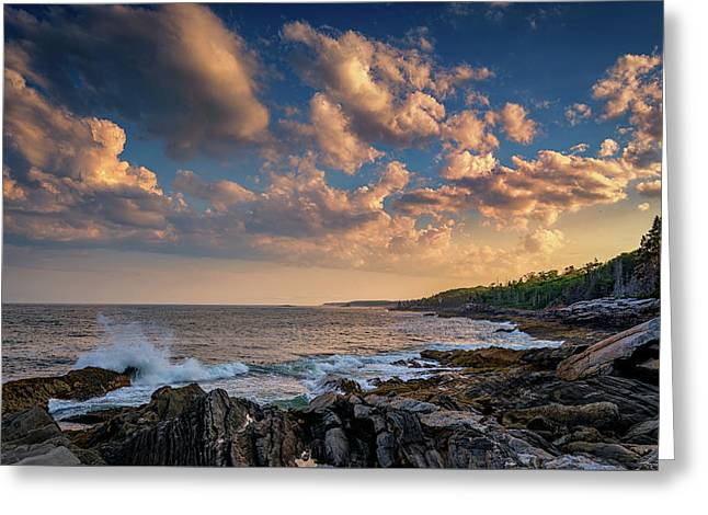 Overlooking Muscongus Bay Greeting Card