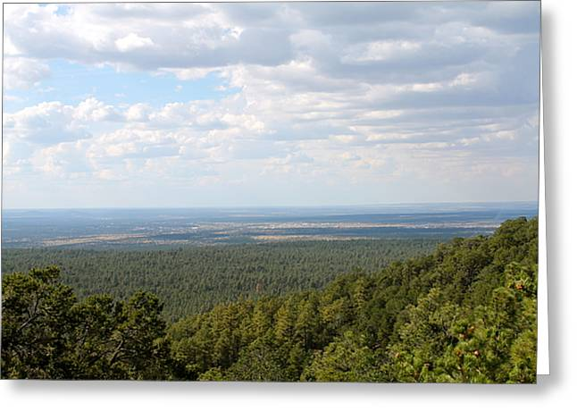 Overlooking Pinetop Greeting Card