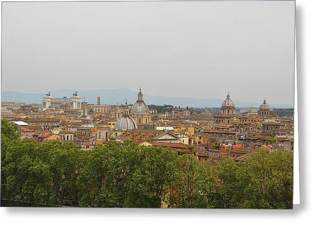 Overlooking Rome Greeting Card by JAMART Photography