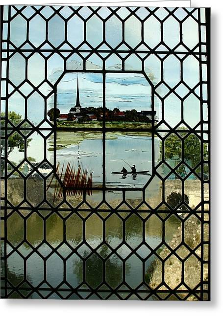 Overlooking The Loire Greeting Card by Mary McGrath