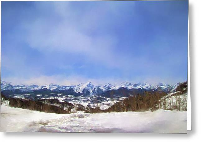 Overlooking The Mountains Of Colorado Landscape Art By Jai Johnson Greeting Card by Jai Johnson