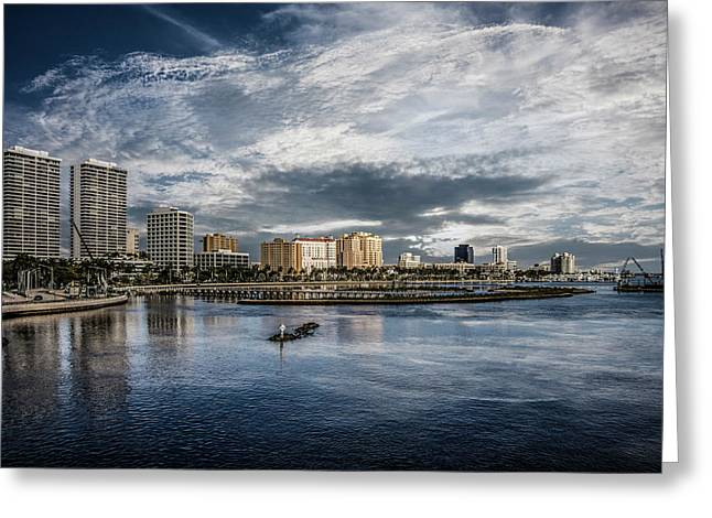 Overlooking West Palm Beach Greeting Card