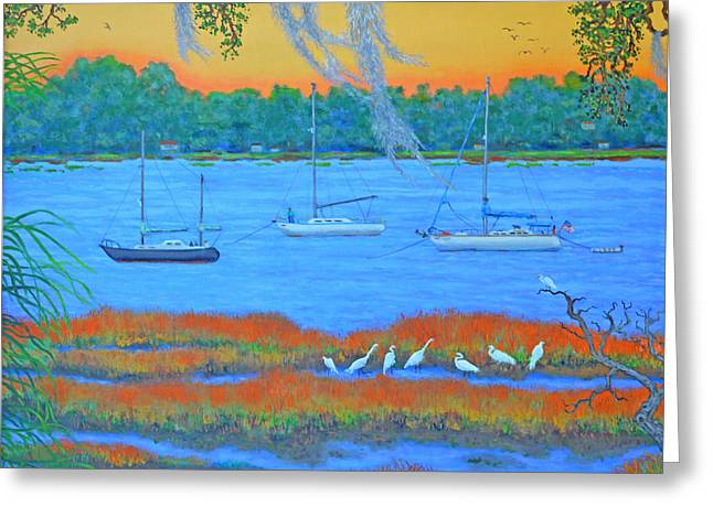 Overnight In Beaufort Greeting Card