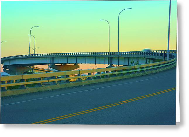 Overpass Greeting Card by Paul Kloschinsky