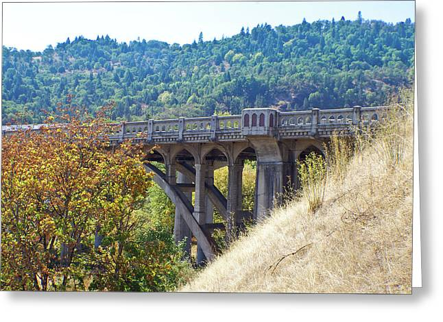 Overpass Underpinnings Greeting Card by Adria Trail