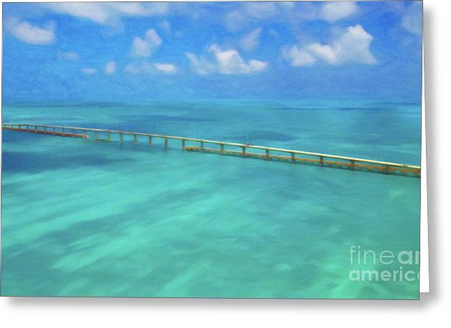Overseas Highway Florida Keys Greeting Card by Patrick M Lynch