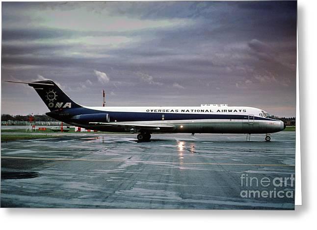 Overseas National Airways Douglas Dc-9-32f, N938f, Cargo Jet Gin Greeting Card