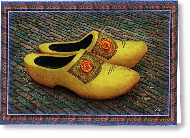 Greeting Card featuring the photograph Oversized Dutch Clogs by Hanny Heim
