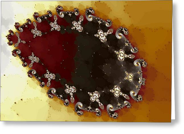 Ovoid Cluster Greeting Card by Mark Eggleston