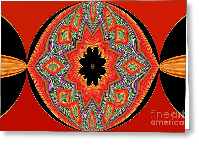 Unique And Colorful Orange Black Yellow Design Greeting Card