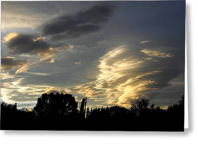 Owens Valley Sunset 2 Greeting Card by Lea Belgarde