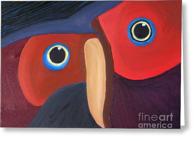Owl - Sold Greeting Card by Paul Anderson