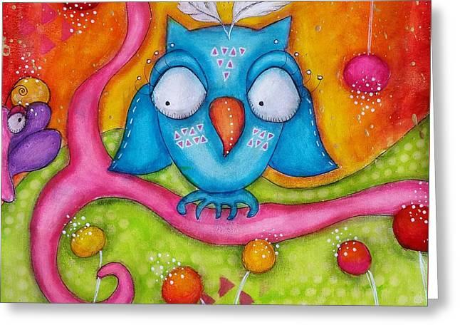 Owl-ala  Greeting Card