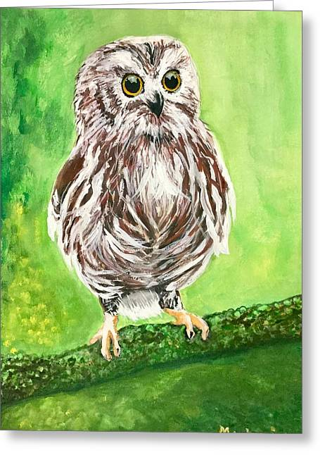 Owl Greeting Card by Anthony Masterjoseph