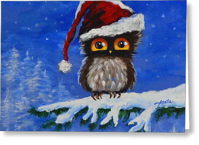 Owl Be Home For Christmas Greeting Card