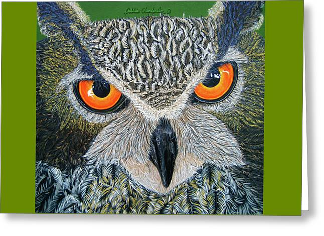 Owl Capone Greeting Card