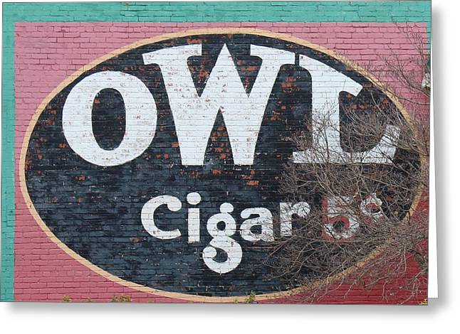 Owl Cigars Greeting Card by John Adams