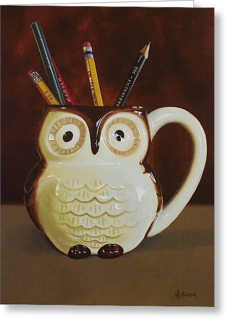 Owl Cup Greeting Card
