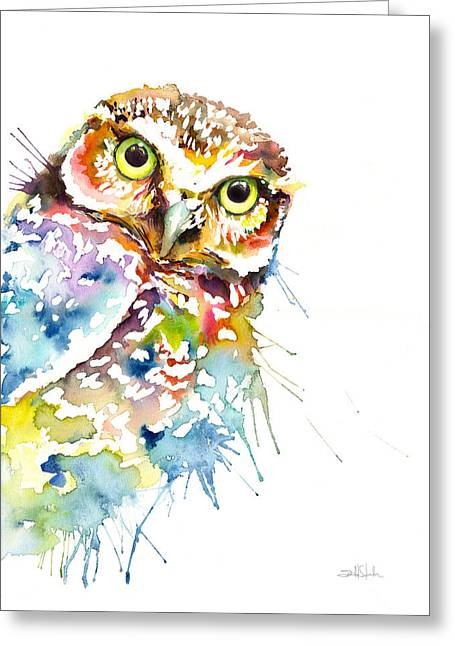 Owl Curious Greeting Card by Isabel Salvador