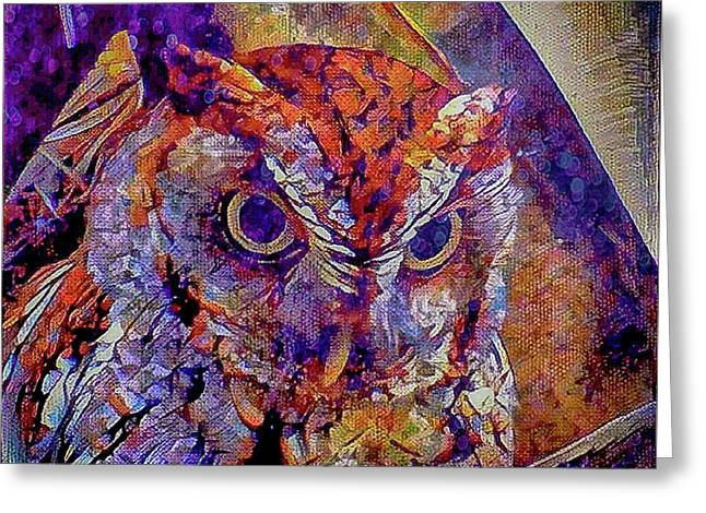 Greeting Card featuring the photograph Owl by David Mckinney