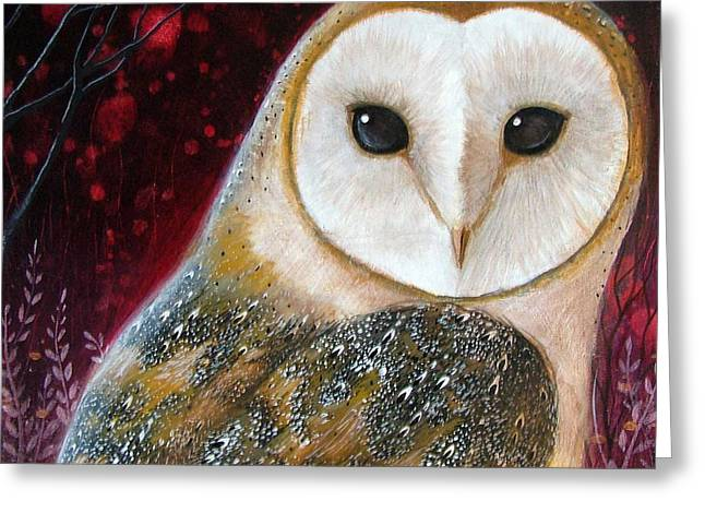 Owl Power Animal Greeting Card