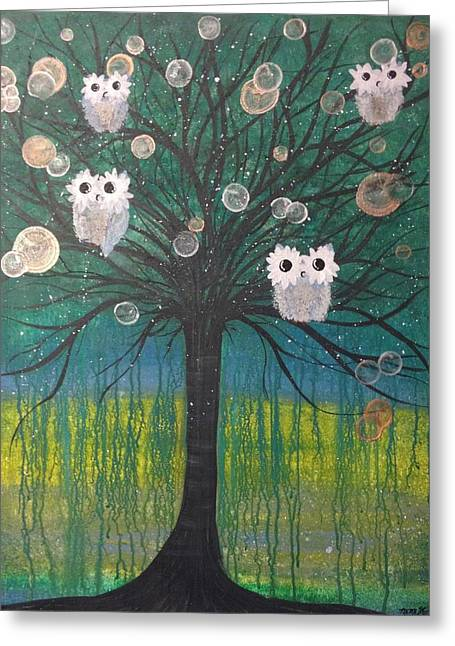 Owl Tree Of Life #378 Greeting Card