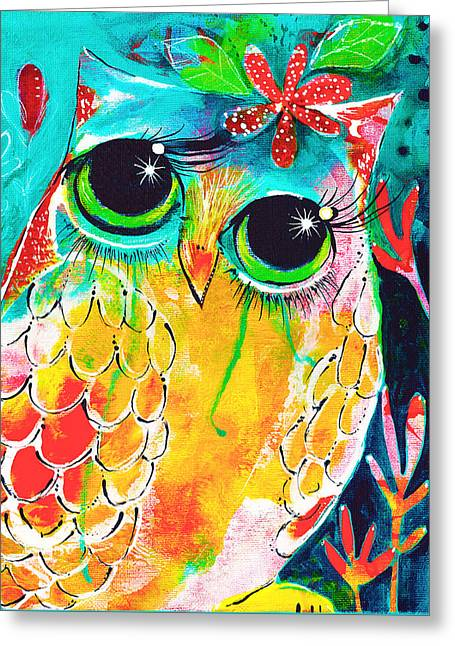 Owlette Greeting Card by DAKRI Sinclair