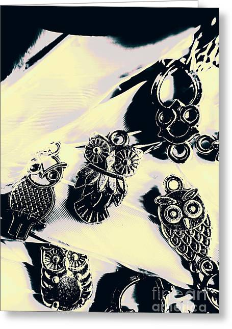 Owls From Blue Yonder Greeting Card