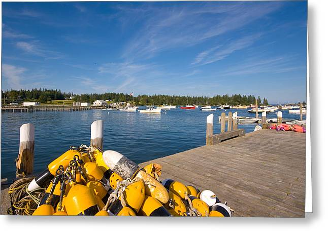 Best Sellers -  - New England Village Greeting Cards - Owls Head Harbor Greeting Card by Kevin Kratka