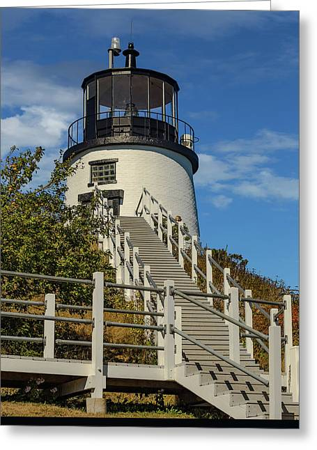 Owls Head Light. Maine Greeting Card by Capt Gerry Hare