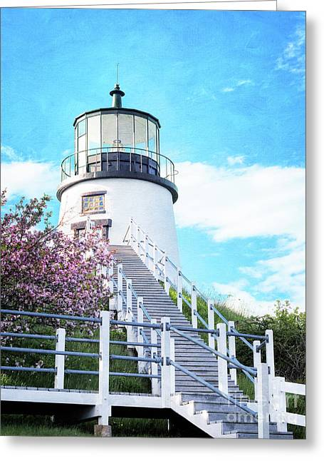 Owl's Head Light In Early June Greeting Card
