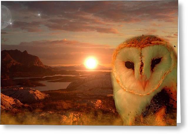 Owlsoul - Eulenseele Greeting Card
