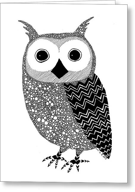 Owly Greeting Card