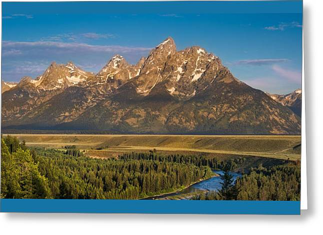 Oxbow Bend Grand Tetons Greeting Card