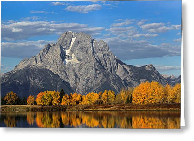 Oxbow Bend In Autumn Greeting Card by Andrew Wells