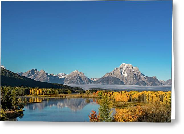 Oxbow Bend Greeting Card by Mary Hone