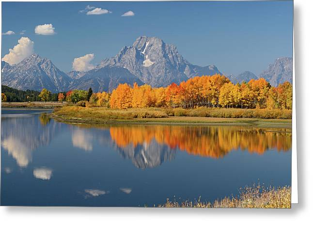 Oxbow Bend Reflection Greeting Card
