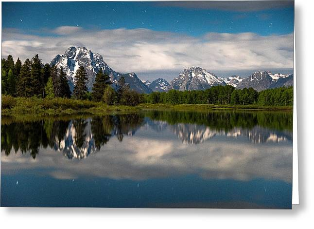 Oxbow Nights Greeting Card by Darren  White