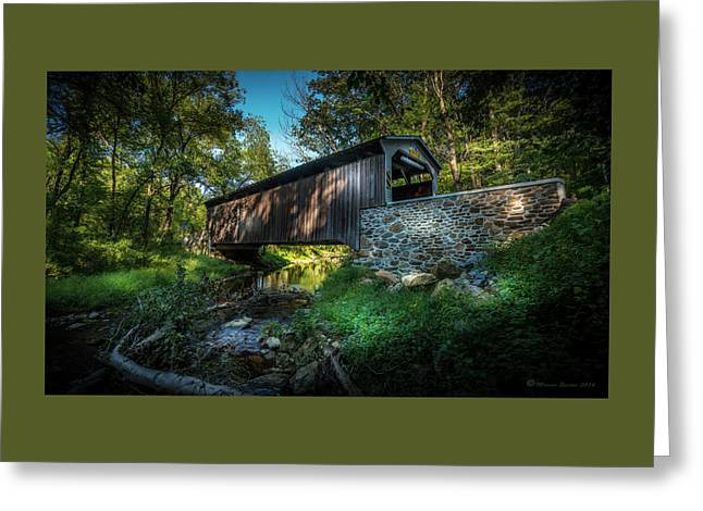 Oxford Pennsylvania Bridge Greeting Card