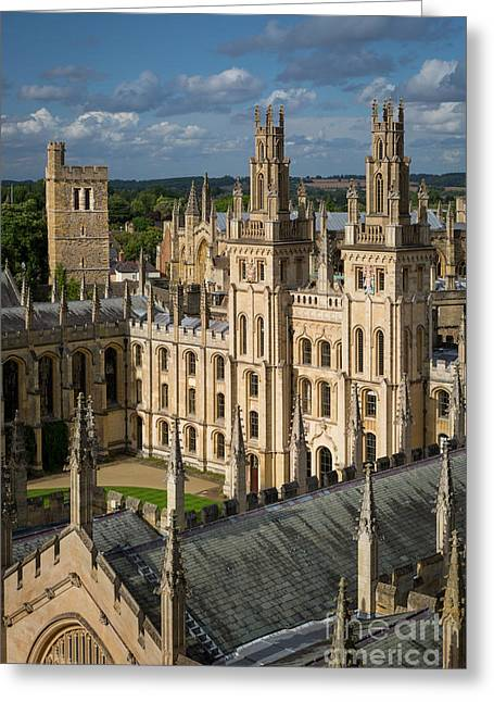 Greeting Card featuring the photograph Oxford Spires by Brian Jannsen
