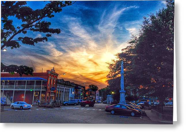 Oxford Square At Sunset Greeting Card