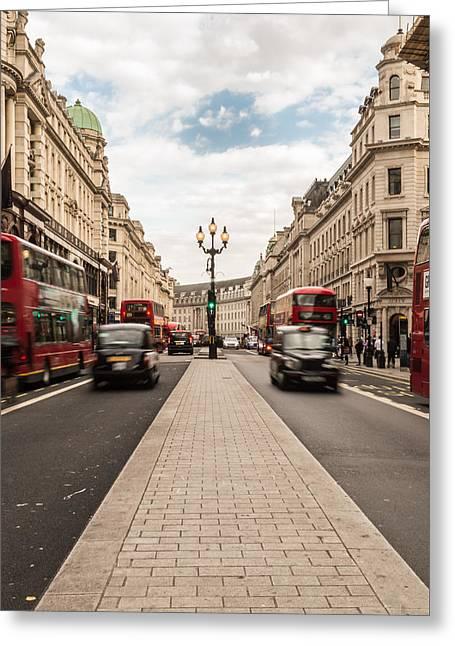 Oxford Street In London Greeting Card