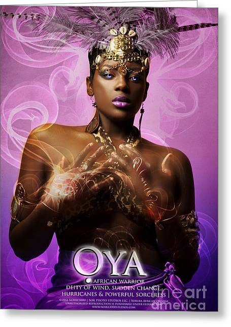 Oya Greeting Card by James C Lewis