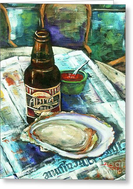 Oyster And Amber Greeting Card