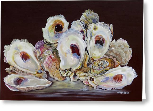 Oyster Shell Study At Low Tide Greeting Card