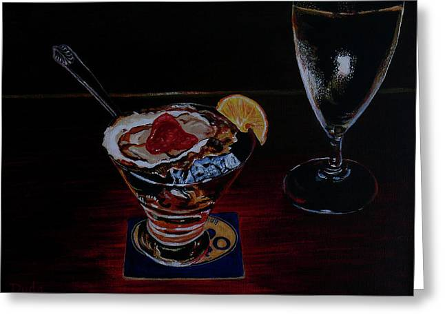 Oyster Shooter Greeting Card by Susan Duda
