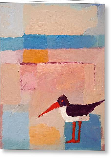 Oystercatcher On The Beach Greeting Card by Lutz Baar