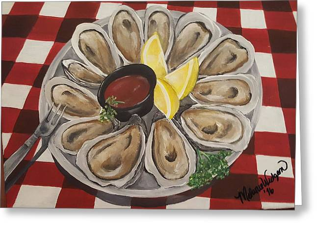 Oysters On The Half Shell  Greeting Card by Melanie Widgeon